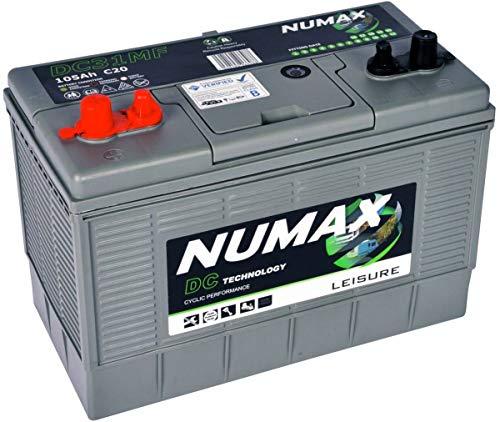 Numax 12V 105AH DC31MF Deep Cycle Leisure Marine Battery Motorhome Caravan Boat - NCC VERIFIED
