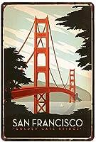 サンフランシスコティンサイン壁の装飾金属ポスターレトロプラーク警告サインオフィスカフェクラブバーの工芸品