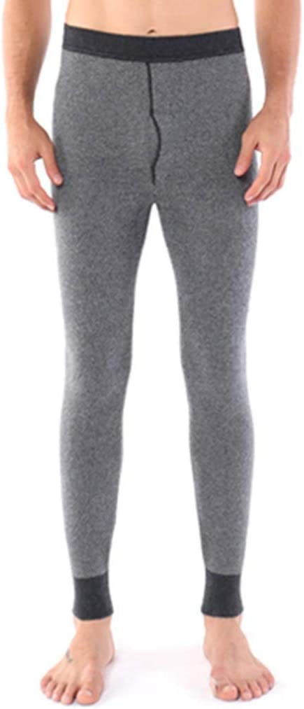 Thermal Pants NLIAN- Men's, Non-Shrink Non-Pile Traditional Hot Soft Cotton Base Layer Pants (Color : Gray, Size : XL)