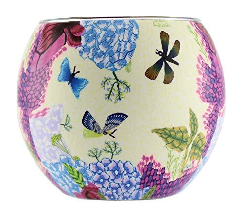 Leuchtglas Windlicht Teelichtglas Teelichthalter Stimmungslicht mit Motiv Schmetterlinge