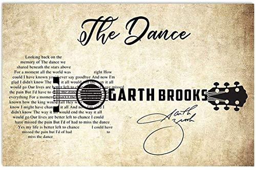 The Dance Garth Brooks Lyrics Guitar Canvas Decor Home, Wall Art Canvas 0.75 Inch Print Decor (Size 8x12, 12x18, 16x24, 24x36 Inches)