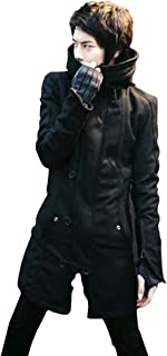 SHEYA モッズコート メンズ ボリュームネック フード付 ミリタリー モッズコート ブラック 黒 スプリングコート