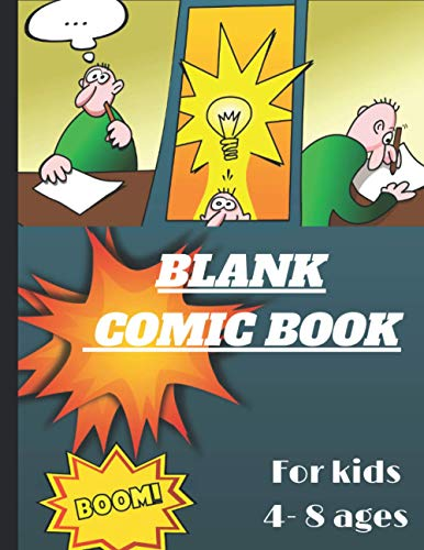 BLANK COMIC BOOK For kids 4- 8 ages: Create Your Own Comic Strip, Blank Comic Panels, 135 Pages, Red (Large, 8.5 x 11 in.): Volume 1 (Action Comics)