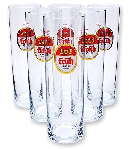6 Früh Kölsch Stangen Kölschstangen Gläser Glas Neu