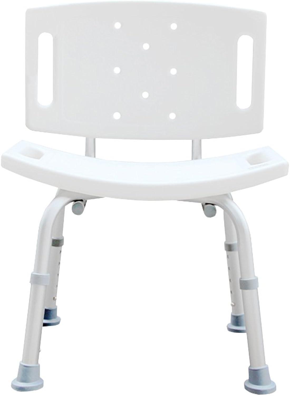 JJJJD Spa Bathtub Shower Chair for The Elderly Pregnant Woman,Aluminum Alloy Non-Slip Heavy Duty Adjustable Shower Chair, Portable Shower Seat, Adjustable Bath Seat, Shower Seat with Back, White
