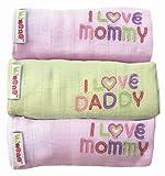Minene Uk I Love Mummy/I Love Daddy en mousseline (Rose et Vert)