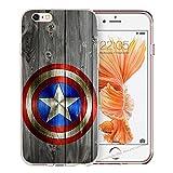 Coque Héros Avengers Marvel Comic Bande Compatible pour LG G2 Logo Captain America Coque de Protection Transparent Smartphone...