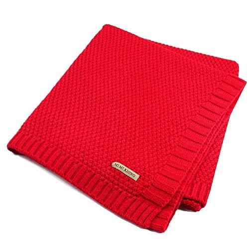 Tomwell Bebé Blanket Manta Saco de Dormir Unisex para Bebés Recién Nacidos Manta para Bebé Carrito Rojo 100X80 CM