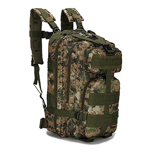 Explosive Army Fan Taktische Tasche Outdoor-Sport Bergsteigertasche Oxford wasserdichte Tarnung Rucksack Dschungel digital 24 * 20 * 43cm