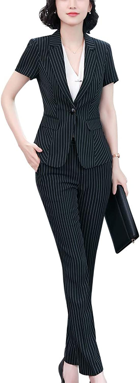 SUSIELADY Women's 2 Pieces Office Business Skirt Suit Set Work Slim Blazer&Dress