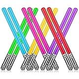 12 Globos Inflables de Fiesta de Espada de Sable de Luz, Juego de Globos de Espada de Sable de Luz para Disfraces, Disfraces, Regalos de Fiesta, Suministros para Fiestas de Halloween (6 colores)