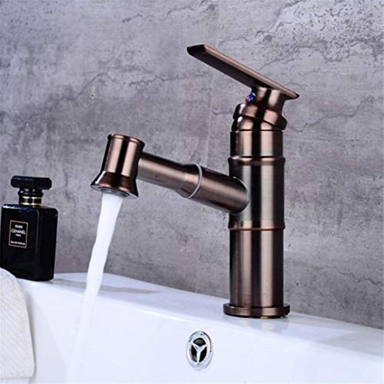 Becken Wasserhahn Messing ORB Farbe Modern Ziehen und Unten Bad Wasserhahn Spüle Wasserhahn WC Mischbatterie Heies kaltes Wasser WC-Hahn
