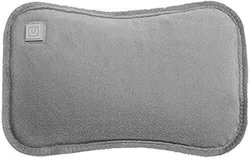 USB aufladbare Hot-Beutel, Faltbarer elektrischer Wärmflasche, mit Flanell-Cover, Waschbar, komfortabel, weich, Handwärmer und Fußwärmer, Bettwärmer, Schmerzen lindern (Color : Gray)