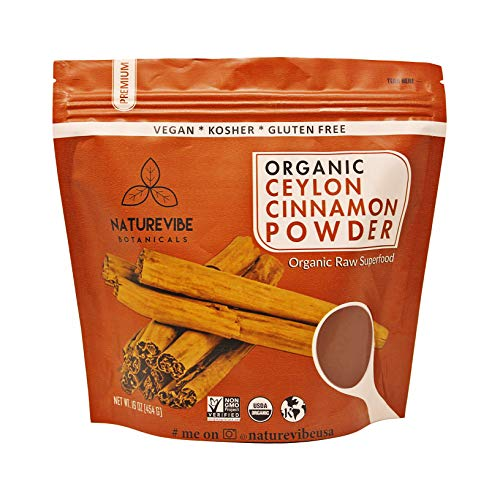 Naturevibe Botanicals Premium Quality Organic Ceylon Cinnamon Powder (1lb), Ground | Certified Organic | Gluten-Free, Keto Friendly & Non-GMO (16 ounces)