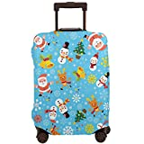 Delerain Santa Claus Snowman Funda de equipaje de viaje lavable Spandex Maleta Protector se adapta a 18 – 32 pulgadas de alto elástico polvo equipaje cubre con cremallera