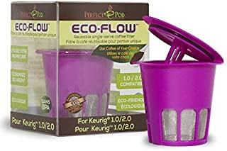 Perfect Pod ECO-Flow 2.0 Reusable K-Cup Coffee Pod Filter | Compatible with Keurig and Select Single Cup Coffee Makers