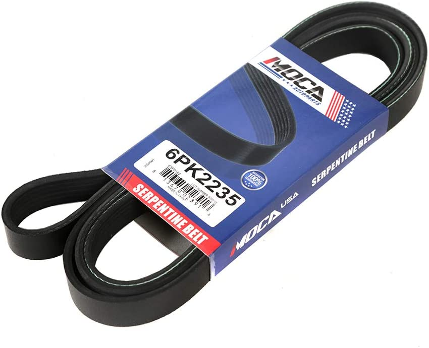 MOCA 6PK2235 EPDM Serpentine Belt Super beauty product restock quality top! V-Ribbed Wholesale Compatible with