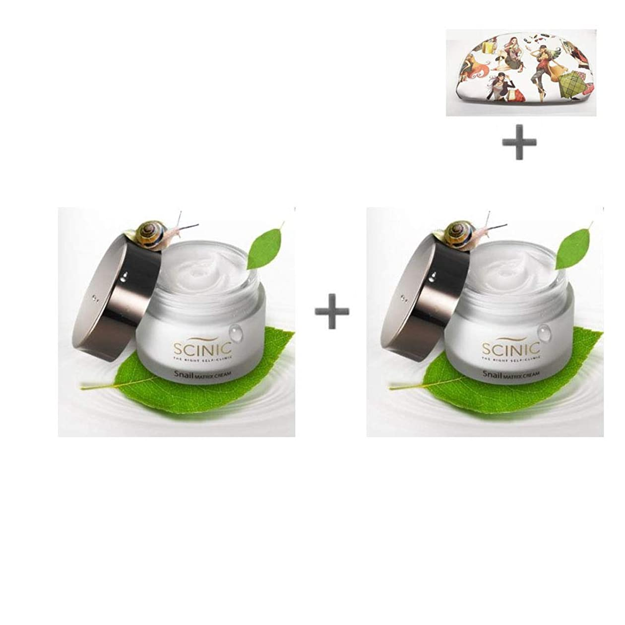 西協力あいさつ[サイニク] Scinic サイニク カタツムリクリーム ぷりぷり モチーフ肌 保湿 栄養 クリーム 50ml 1+1 / Scinic Snail Cream [海外直送品][並行輸入品]