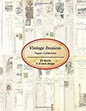 Vintage Invoices Paper Collection: 20 sheets of vintage invoices for bookmaking, junk journaling and other paper crafting projects