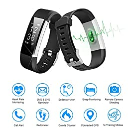 LETSCOM Fitness Tracker HR, Activity Tracker Watch with Hear...