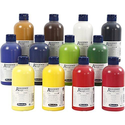 Schmincke AKADEMIE® Acrylfarbe, 12 x 500 ml