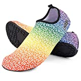 Chillbo Water Shoes - Beach Shoes for Women and Mens Water Shoes 7 Vibrant Styles Swimming Shoes for Women & Water Shoes for Men for Beach Swim Yoga Exercise Rainbow