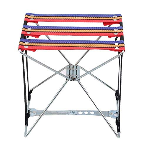 Silla de pesca ligera plegable de tela súper fuerte para acampar al aire libre taburete de pesca aparejo plegable taburete de alambre