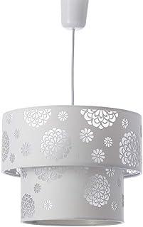 Lámpara de techo moderna blanca de poliéster de Ø 30x23 cm.