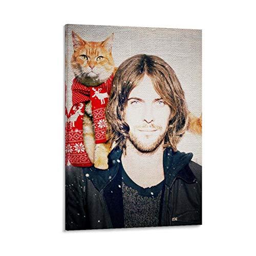 rongtao Póster artístico de un gato callejero llamado Bob y arte de pared, impresión moderna para decoración de dormitorio familiar, 50 x 75 cm