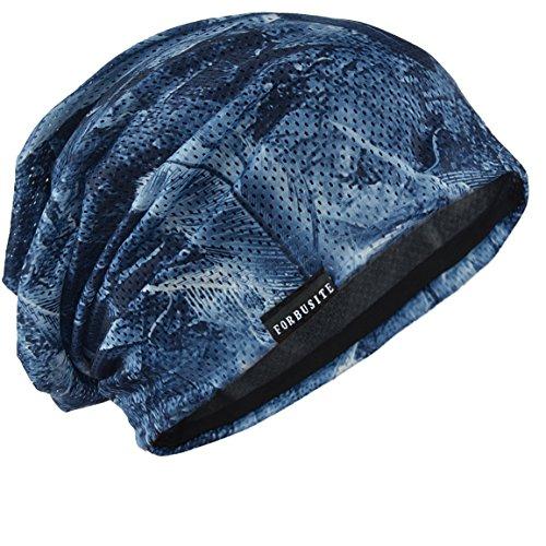 サマーニット帽 メンズ 大きいサイズ ゆるシルエットのニットキャップ メンズニット帽 薄手 通気性 羽毛柄 ...