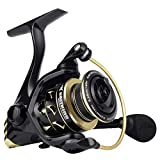 KastKing Valiant Eagle Spinning Reels, Black Gold Fishing Reel, Size 1000