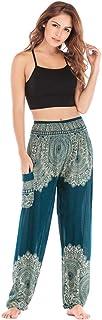 JSK Women's Boho Harem Yoga Pants Hippie Tapered Loose Yoga Casual Loose Comfy Women Pants (Green)