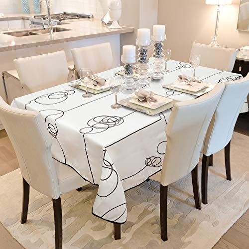 OinkieMoo Rectangle Tablecloth - Wrinkle Free Polyester Fabric Table Cloths Rectangle 52x70 Inches. Water and Oil Resistant Table Cloth is Ideal for Indoor and Outdoor Use