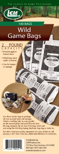 LEM Products Two Pound Wild Game Bags (100 Bags)