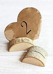 wood slice art ideas ~ place holders