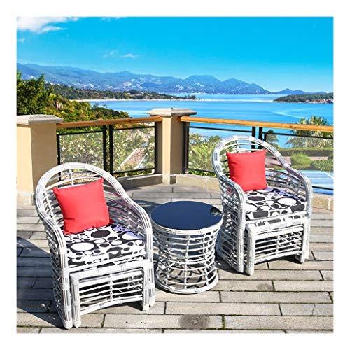 BDBT Patio Muebles de jardín Mesa y sillas Conversación Conjunto de Cristal Mesa de Centro de jardín al Aire Libre Junto a la Piscina (Color : B)