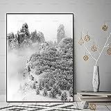 yaoxingfu Pas de Cadre Paysage Mur Image décoration de la Maison Toile ng Wall Art Print Neige Montagne paysages Toile décoration pour Salon 40x60cm