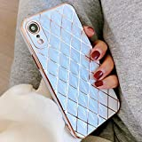 OWM iPhone XR Case Silicone [Quilted Designer Back]