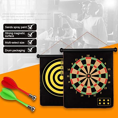 Iswell Magnetic Safety Dart Board, doppelseitiges Rollup-Brettspielset für Geschenke, Indoor Outdoor Magnetic Dart-SpieleFür Kinder und Erwachsene Professionelles Dartboard-Set Enthält 12 Darts