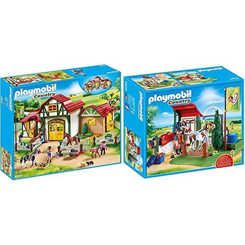 Playmobil 6926 - Großer Reiterhof & 6929 - Pferde-waschplatz