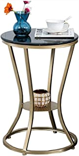 ZTTZX Living Room Sofa Side Modern Round Marble Bedroom Bedside Table Small Table Mini Balcony Small Coffee Table
