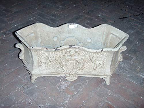 Macetero Hierro Forjado P460. Aspecto Antiguo. Disponible en Color Negro, Cobre, Bronce, Zinq, Oxidado, Blanco Viejo y Blanco Oxidado.