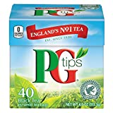 Pg Tips Premium Black Tea For a Classic Caffeinated Beverage,Pyramid Black Tea Bags,40 Count (Pack of 6)