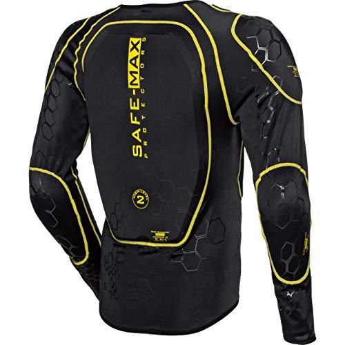 Safe Max® Protektorenjacke Motorrad Protektorenhemd Unterziehjacke mit Protektoren, Level 2, extrem funktional, Schulter-, Ellbogen- und Rückenprotektor, luftig, atmungsaktiv, Schwarz, XL - 3