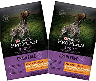 2 Bags of Purina Pro Plan Sport All Life Stages Performance 30/20 Chicken & Egg Formula Grain-Free Dry Dog Food 4-lbs ea