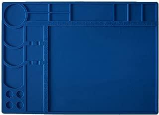 Soldering Mat Board Heat Resistant 572°F Insulation Desk Mat for Heat Gun,Soldering Iron Tool Silicone Work Mat Soldering Workbench BGA Soldering Station,Cell Phone,Watch Repair Desk Pad Circuit Board