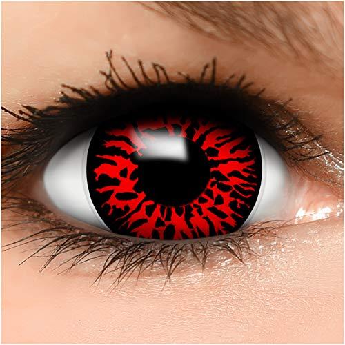Farbige Mini Sclera Kontaktlinsen Lenses Dämon inkl. Behälter - Top Linsenfinder Markenqualität, 1Paar (2 Stück)