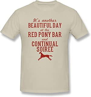 Men's Longmire Red Pony Continual Soiree Mousepad Cool Natural T Shirt with Mens Short Sleeve