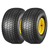 MaxAuto 2 Pcs 20x8.00-8 Tires & Wheels 4 Ply for Lawn & Garden Mower Turf Tires(3.5' Offset Hub, 3/4' Bore with 3/16' Keyway)