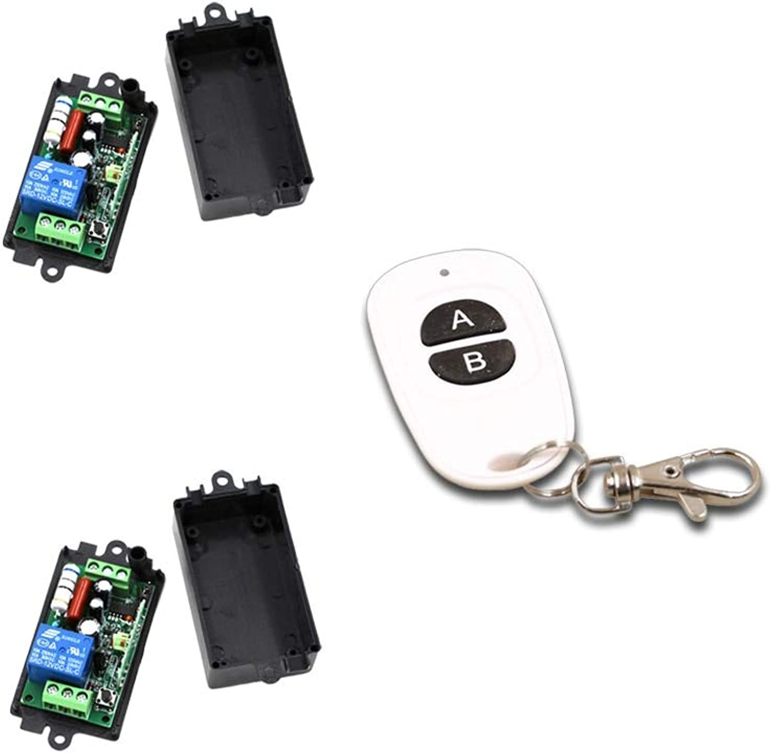 AC 110V Remote Control Switch AC220V 10A Wireless Remote Controller Systerm RF ON Off 315Mhz 433Mhz with 2 Receiver  (color  433Mhz 220v)